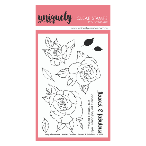 Uniquely Creative - Clear Stamp - Flawed & Fabulous (UC1739)