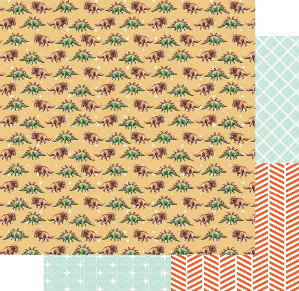 Uniquely Creative - Wild Collection -  12 x 12 Pattern Paper Dino UCP2099