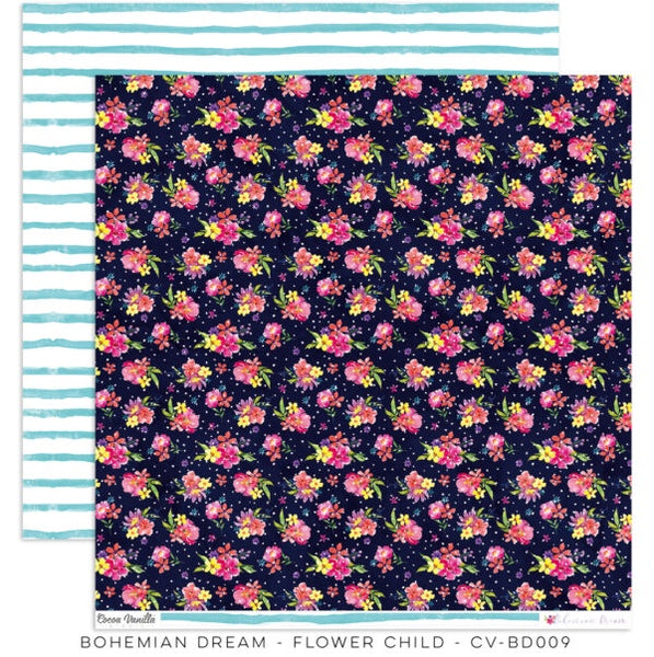 Cocoa Vanilla Studio Bohemian Dream Flower Child Patterned Paper CV-BD009