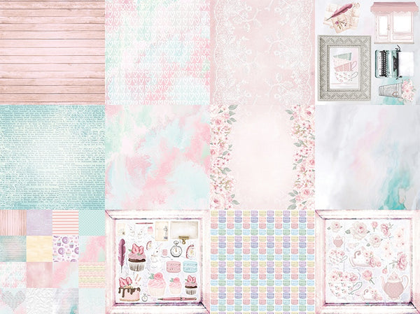 Springtime Tea Party 12x12 Double-Sided Patterned Paper Pack - 2 sheets each of 6 designs (12 pieces) - Designed by Alicia Redshaw