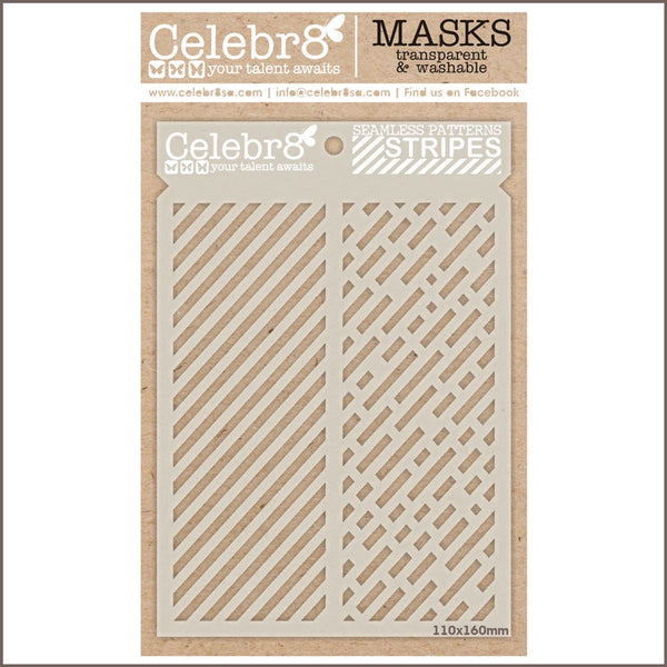 Celebr8 - Stencil Mask Template - Seamless Patterns Stripes (SM4510)