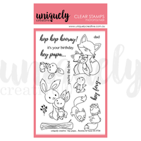 Uniquely Creative - Clear Stamp - Hey Papa Bunnies & Foxes  (UC1754)