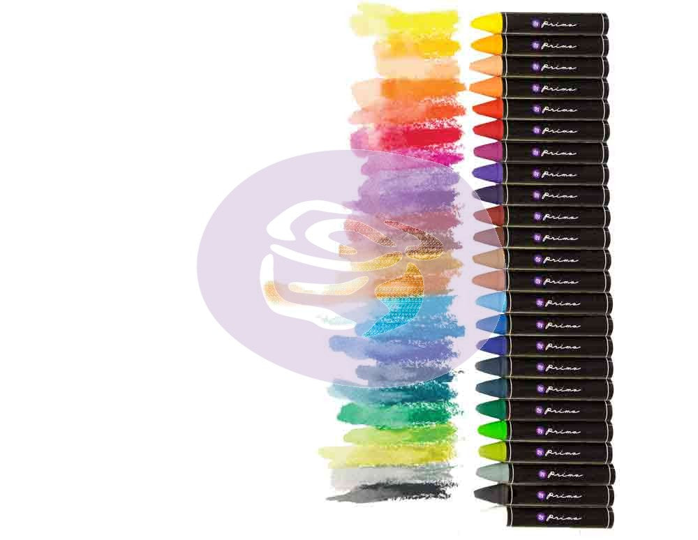 Prima - Water Soluble Oil Pastels - Assorted Colors - 24pc set (814328)