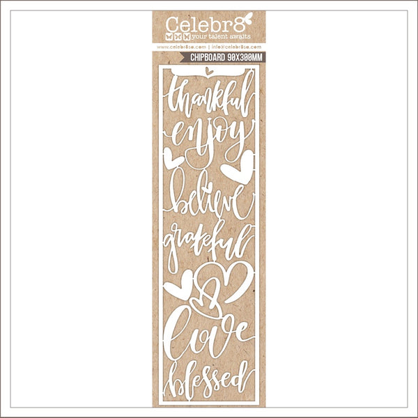 Celebr8 Ivory Chipboard - You are Amazing - Amazing Word Card (MB3640)