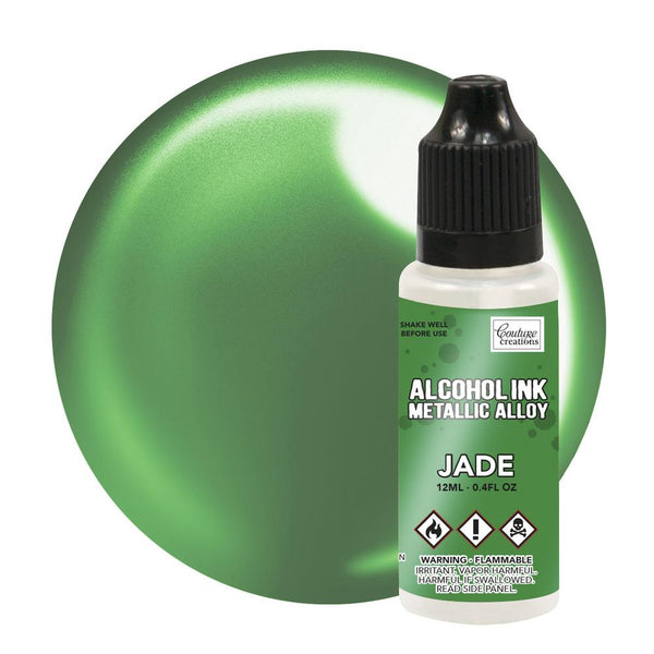 Couture Creations 12ml Jade Metallic Alloy Alcohol Ink CO727890