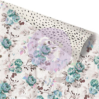 Prima Zella Teal Stone Rose 12x12 Foiled Double-sided Patterned Paper (848132)