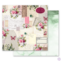 Prima - Misty Rose - 12 x 12 Patterned Paper - Scented Love Letters (849269)