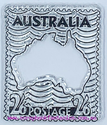Couture Creations Sunburnt Country Clear Stamp - Australia Postage Stamp (4cmx5cm) CO727202