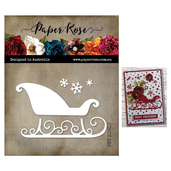 Paper Rose Cutting Die Sleigh 20610