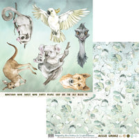 Aussie Grunge 12x12 Double-Sided Patterned Paper 002 Designed by Alicia Redshaw Exclusively for Scrapbook Fantasies