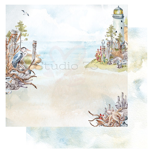 Studio 73 Seaside Serenity - Herron Cove 12x12 d/s Patterned Paper 557344