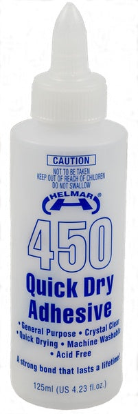 Helmar - 450 Quick Dry Adhesive Glue - 125ml (H00043)