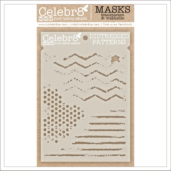 Celebr8 - Stencil Mask Template -  You are Amazing - Distressed Patterns (SM4647)