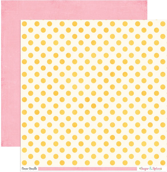 Cocoa Vanilla Studio - Sugar & Spice Dot to Dot 12x12 d/s Patterned Paper CV-SS2006