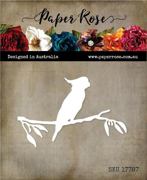 Paper Rose Cutting Die Cockatoo on a Branch 17787