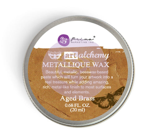Prima - Wax -Art Alchemy-Metallique Wax- Aged Brass (963965)