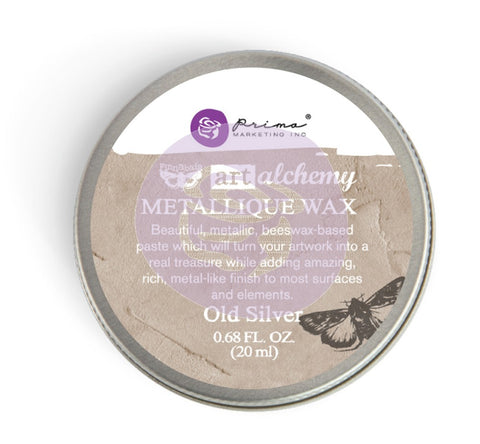 Prima - Wax -Art Alchemy-Metallique Wax-Old Silver (963996)