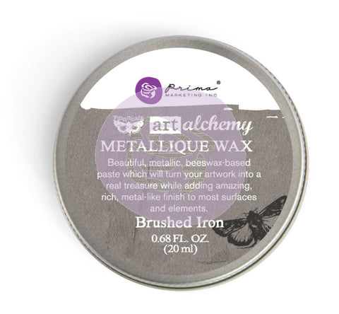 Prima - Wax -Art Alchemy-Metallique Wax-Brushed Iron (964009)