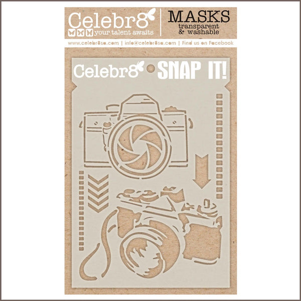 Celebr8 - Stencil Mask Template - Snap It (SM4041)