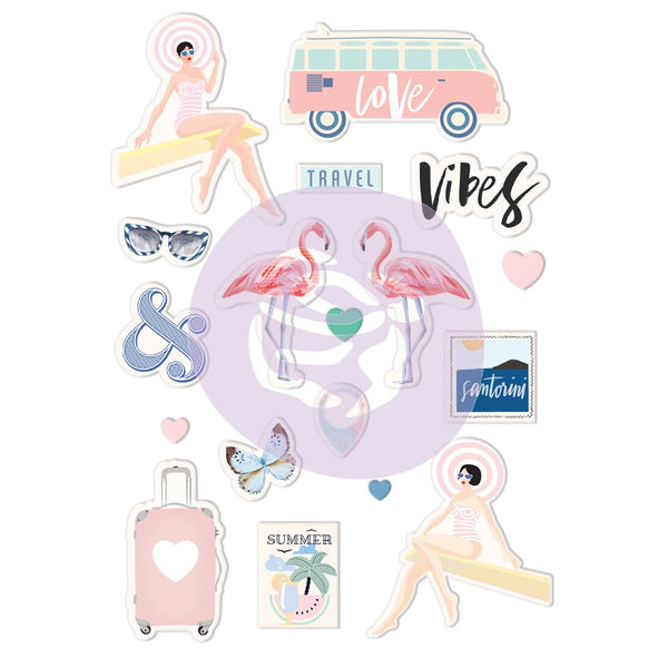 Prima - Puffy Stickers - Santorini 18 Pcs (994259)