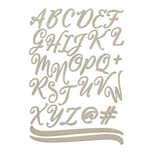 Couture Creations - Large Uppercase Script Alphas (2 Sheets) (CO726236)