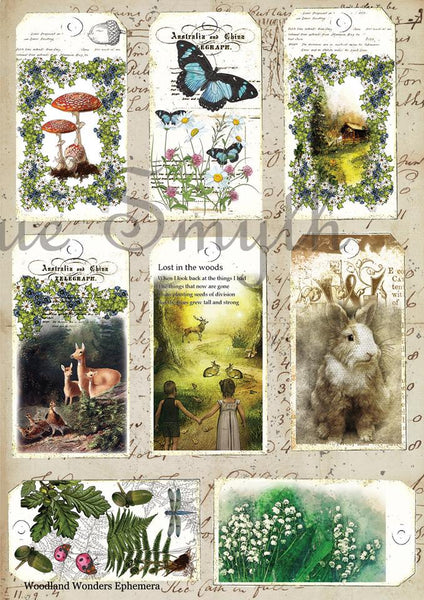 Artsy Treasures Woodland Wonders A4 Cutout Sheet (AT042)