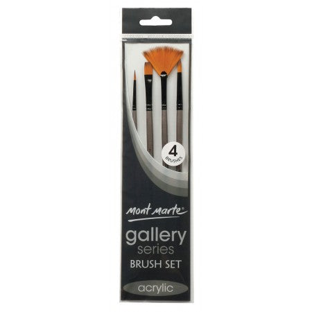 Mont Marte Gallery Series 4 piece Acrylic Brush Set (BMHS0010)