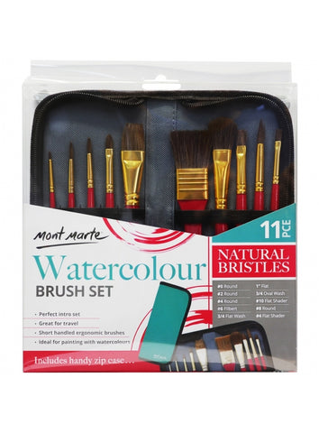 Mont Marte Watercolour Paint Brush 11 Pc (BMHS0032)
