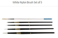 Art Basics White Synthetic 5 piece Brush Set (BS1085)