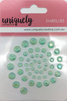 Uniquely Creative - Bling - Mint Rhinestones (UCE0268)