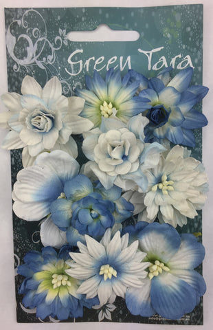Green Tara Cornflowers - Bright Blue - 10 pack CFBB