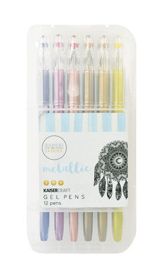Kaisercolour - Gel Pen Set 12 Pens - Metallic