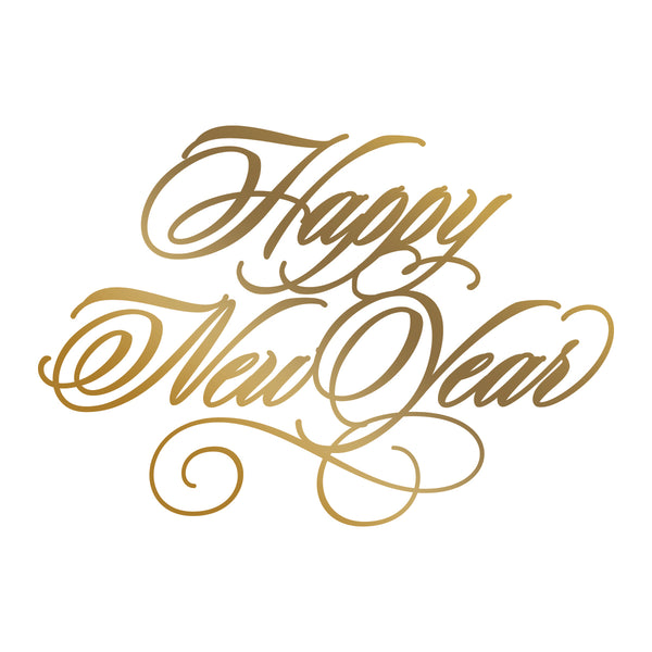 Couture Creations - Hot Foil Stamp - Happy New Year (CO725569)