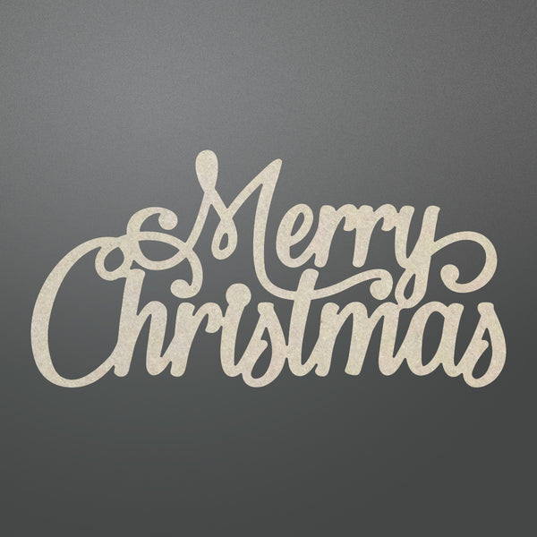 Couture Creations - Merry Christmas Sentiment Chipboard (co725708)