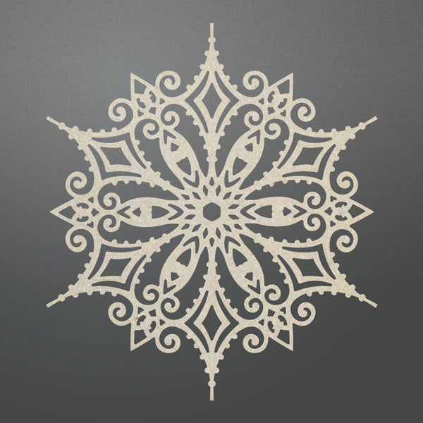 Couture Creations - Ornate Snowflake -Chipboard -  CO725714
