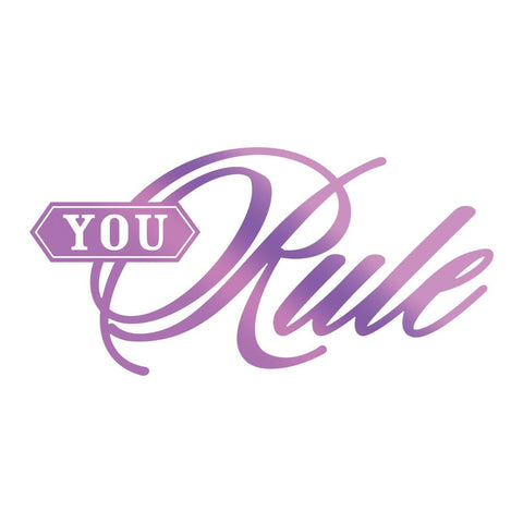 Couture Creations - You Rule -  Hot Foil Stamp (CO725824)