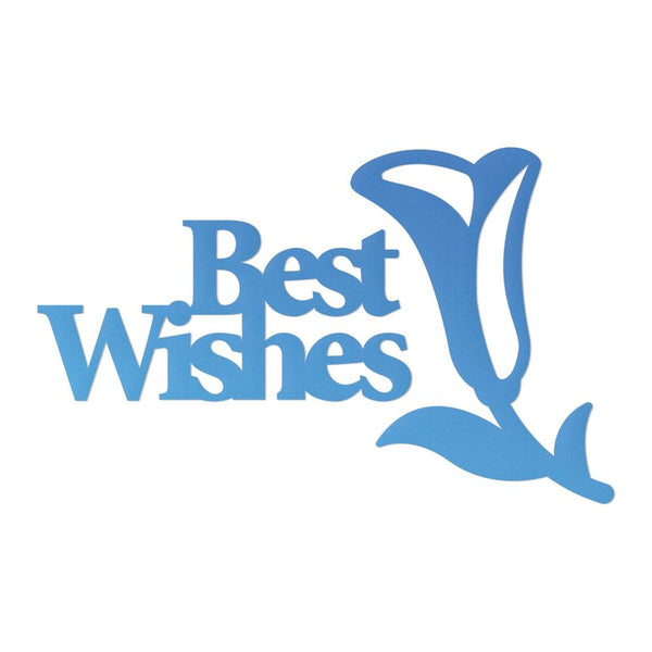 Couture Creations - Mini Die - Best Wishes (CO726087)