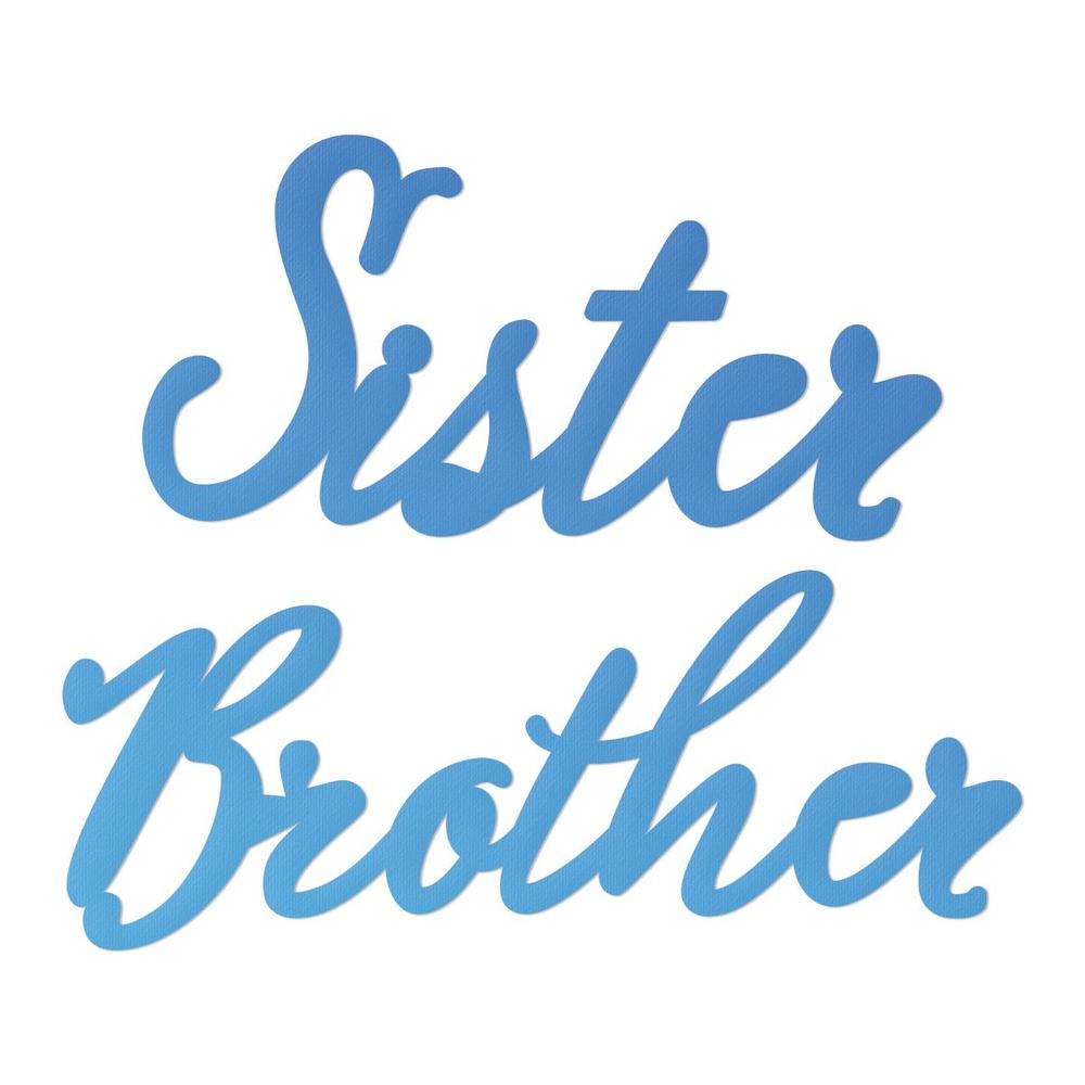 Couture Creations - Mini Die - Sister - Brother (CO726095)