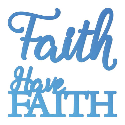 Couture Creations - Mini Die - Have Faith  (Co726110)