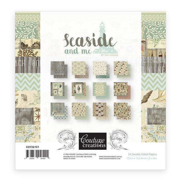 Couture Creations - Seaside & Me - 6 X 6 Paper Pad (CO726151)