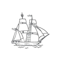 Couture Creations - Seaside & Me - Mini Stamp Tall Ship (CO726156)
