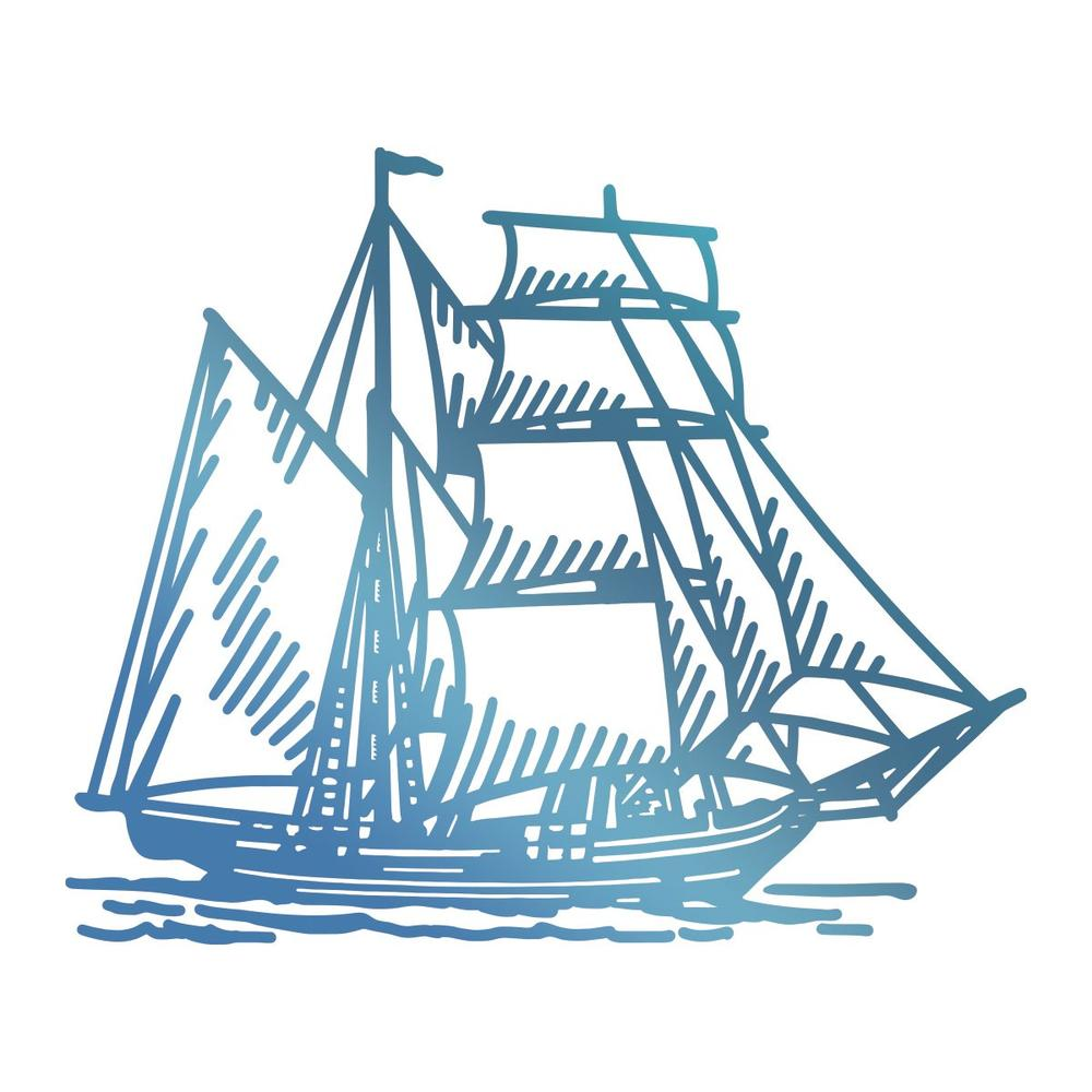 Couture Creations - Seaside & Me - Hotfoil Stamp Tall Ship (CO726179)