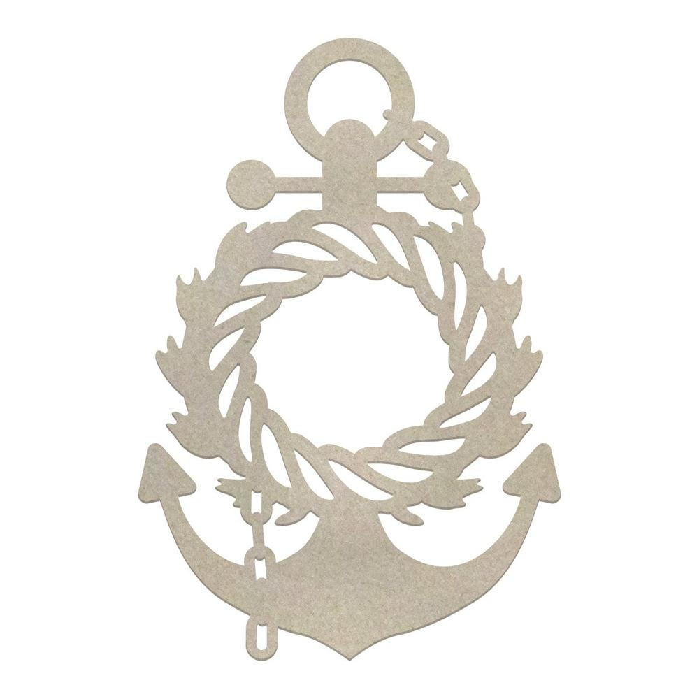 Couture Creations - Seaside & Me - Chipboard - Wreathed Anchor (CO726192)