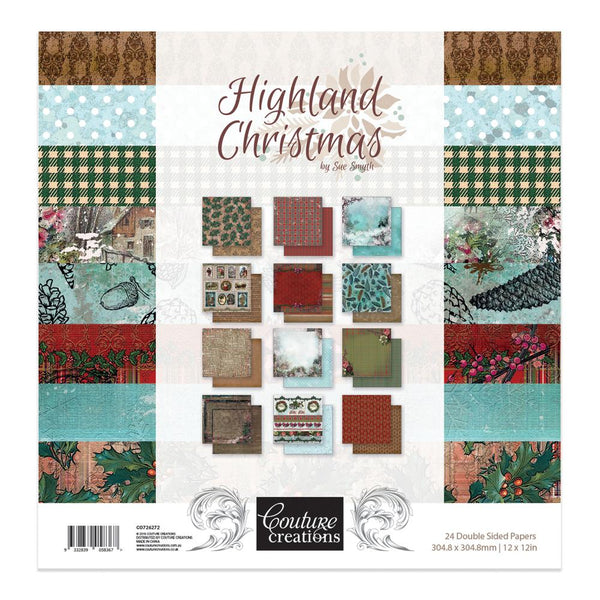 Couture Creations - Highland Christmas 12 x 12 Paper Pad  (CO726272)