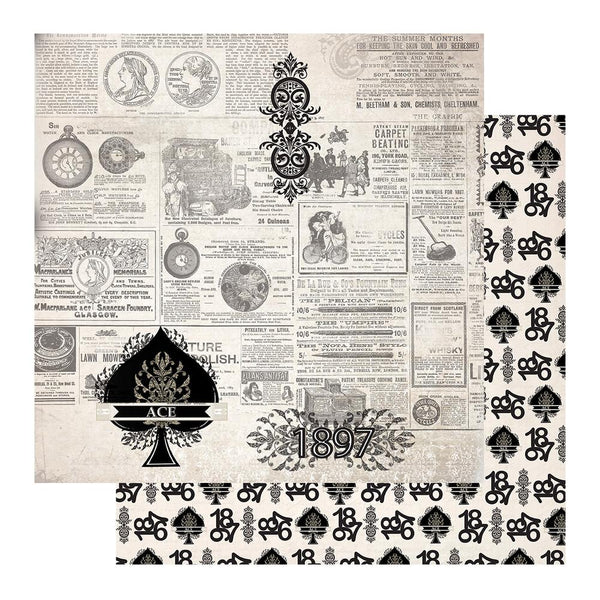 "Gentleman's Emporium - Patterned Paper - 12 x 12"" Sheet 6 (CO726819)"