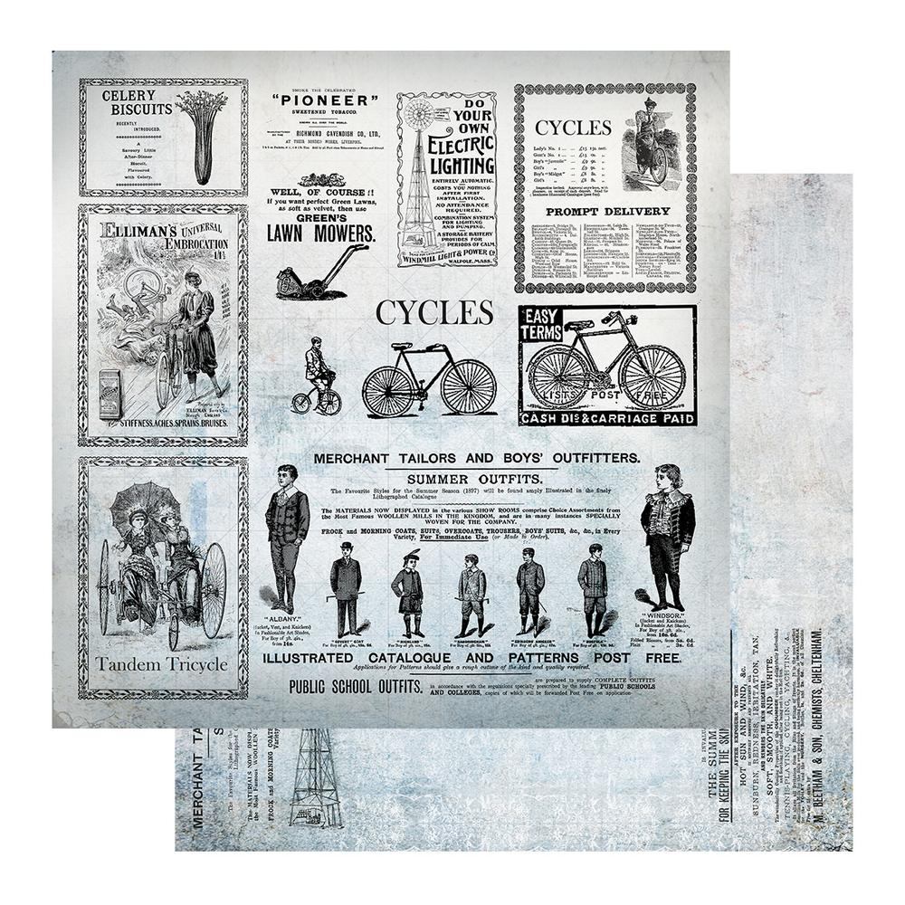 "Gentleman's Emporium - Patterned Paper - 12 x 12"" Sheet 11 (CO726824)"