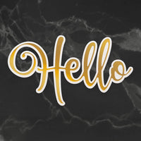 Couture Creations- Delightful Sentiments -Cut, Foil, Emboss - Hello ( CO726950 )