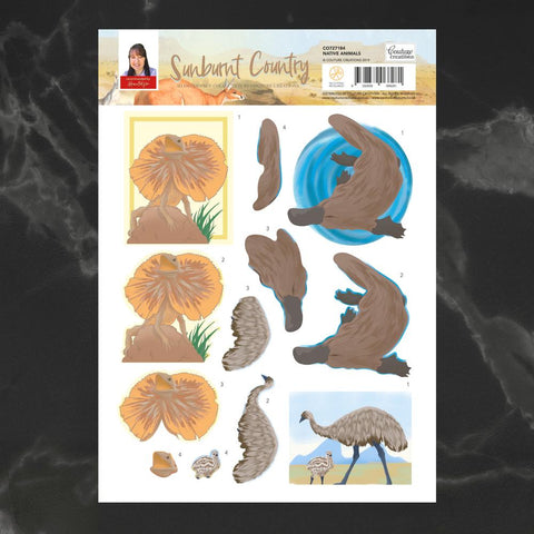 Couture Creations - Sunburnt Country - A4 Decoupage - Native Animals (CO727184)