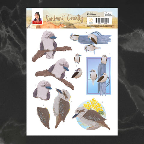 Couture Creations - Sunburnt Country - A4 Decoupage - Kookaburra (CO727185)