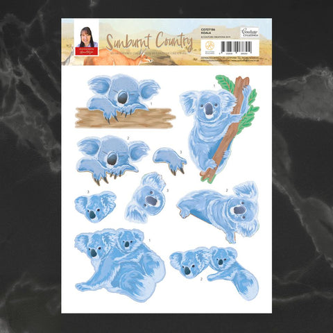 Couture Creations - Sunburnt Country - A4 Decoupage - Koala (CO727186)